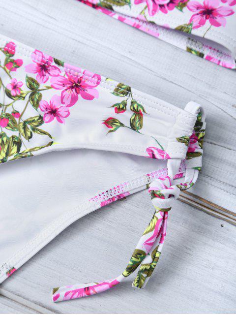 womens Tiny Floral Halter Bikini Set - FLORAL M Mobile