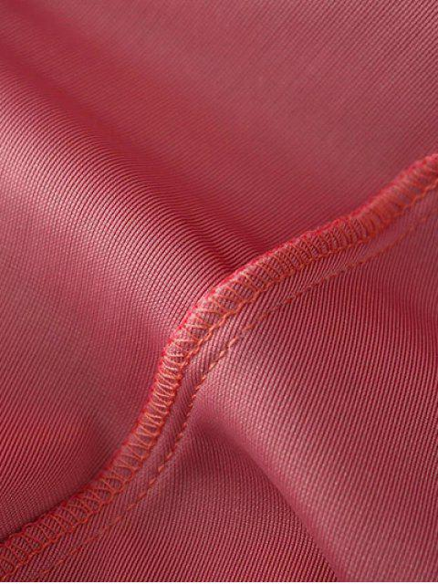 shop Slip Velvet Wrap Midi Dress - DEEP PURPLE M Mobile
