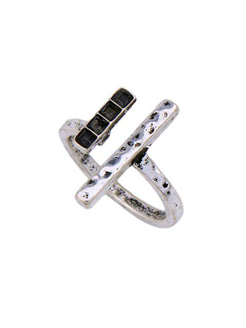 new Rhinestone Vintage Ring Set - SILVER ONE-SIZE Mobile