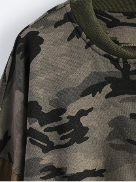 hot Distroyed Camo Bomber Jacket - ACU CAMOUFLAGE XL Mobile