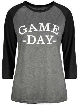 Game Day Baseball Tee - Black And Grey M