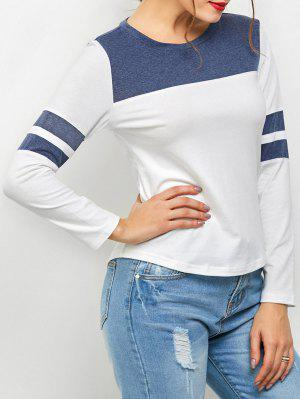 Color Block Space Dyed T-Shirt - White Xs