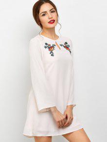 Long Sleeve Chiffon Tunic Dress LIGHT PINK: Chiffon Dresses M | ZAFUL