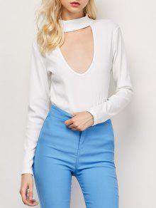 Recortable De Cuello Alto Camiseta Cabida - Blanco S