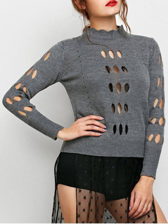 Recortable suéter acogedor - Gris L