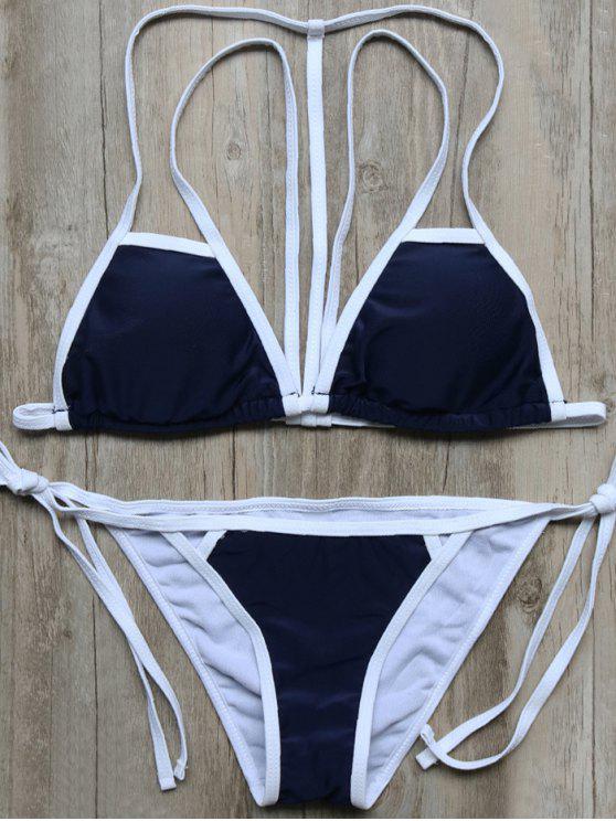 Cadena del bloque del color de tiras del bikini Set - Marina de Guerra M