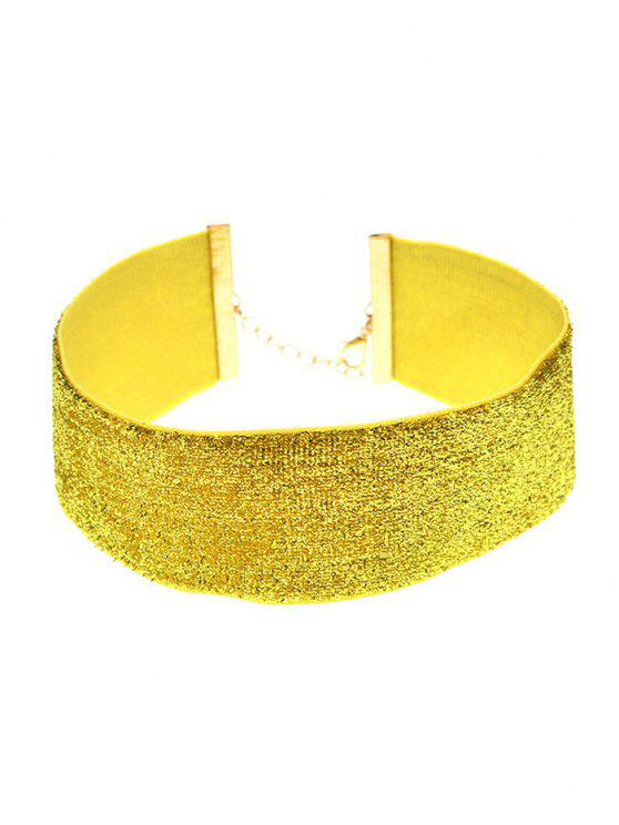 Adornar terciopelo del collar del ahogador de la vendimia - Dorado