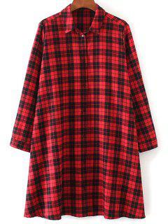 Tartan Check Shirt Dress - Rouge S
