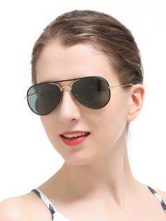 Full Rims Metal Pilot Sunglasses - Black