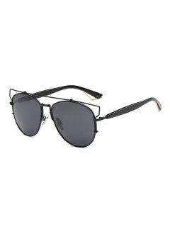 Crossbar Metal Sunglasses - Black