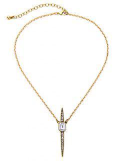 Vintage Rhinestone Necklace - White