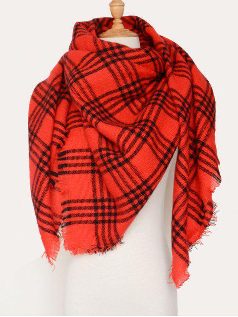 new Plaid Pattern Blanket Scarf -   Mobile