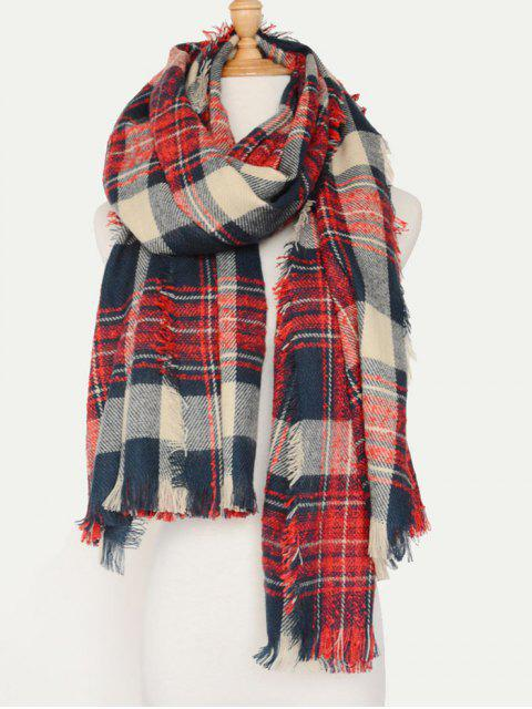 best Plaid Pattern Fringed Oblong Scarf -   Mobile