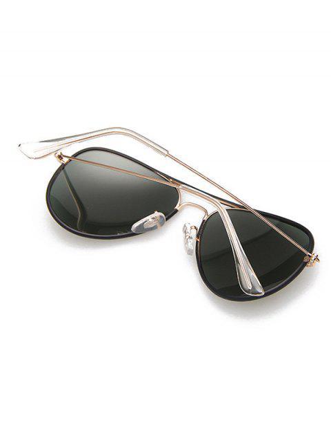 hot Full Rims Metal Pilot Sunglasses - BLACK  Mobile