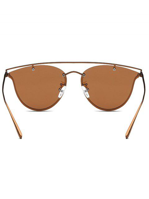 fashion Crossbar Metal Butterfly Sunglasses - TEA-COLORED  Mobile