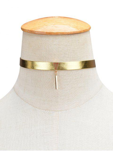 outfit Shiny Choker Necklace - GOLDEN  Mobile