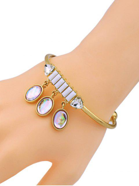 affordable Faux Gem Oval Cuff Bracelet -   Mobile