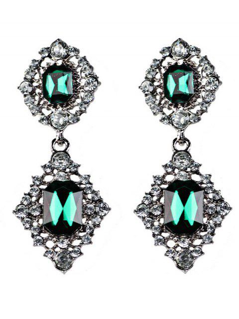 fashion Artificial Gems Embellished Drop Earrings -   Mobile