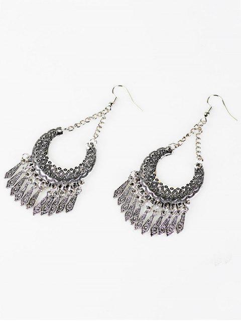 chic Geometrical Tassel Drop Earrings -   Mobile