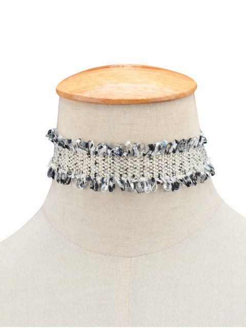 affordable Knitted Fringed Choker -   Mobile