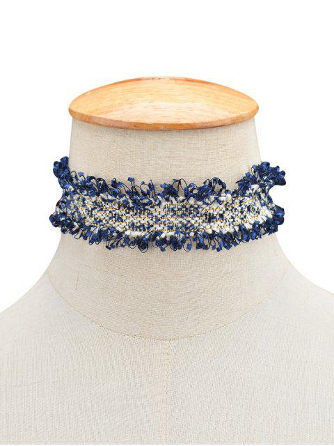 buy Knitted Fringed Choker -   Mobile