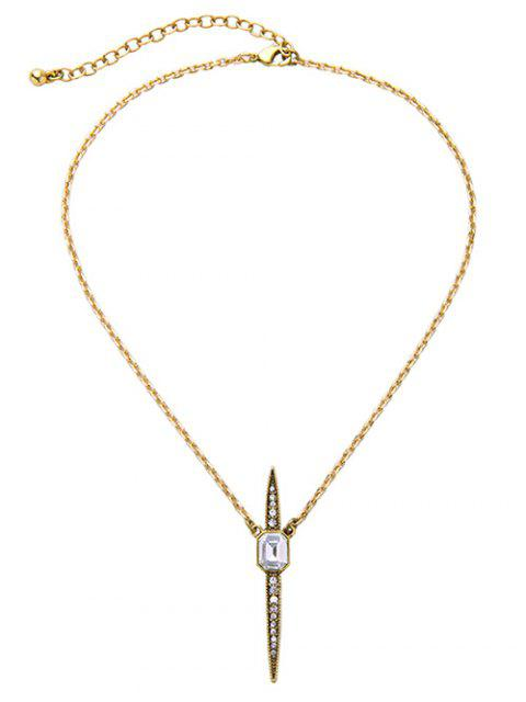 outfits Vintage Rhinestone Necklace - WHITE  Mobile