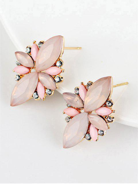 unique Artificial Gems Embellished Candy Color Earrings -   Mobile