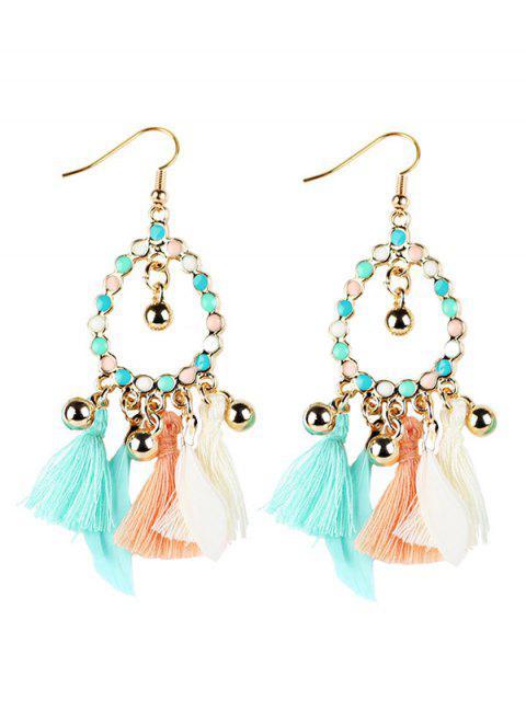 women's Geometrical Bohemian Tassel Drop Earrings -   Mobile