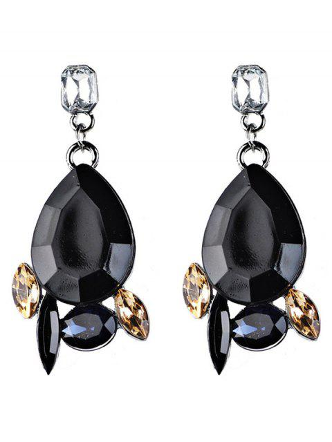 new Artificial Gems Embellished Water Drop Dangle Earrings -   Mobile