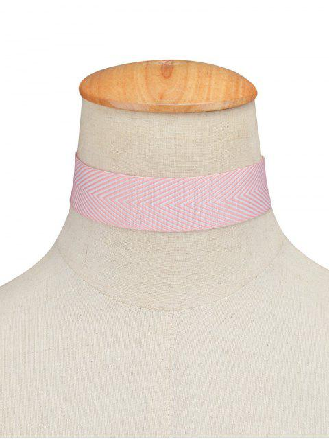sale Geometric Printed Choker Necklace - PINK  Mobile