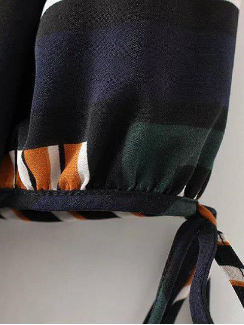 new Checked Ruffle Hem Midi Dress - MULTICOLOR L Mobile