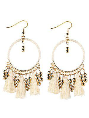 Geometrical Bohemian Tassel Circle Drop Earrings