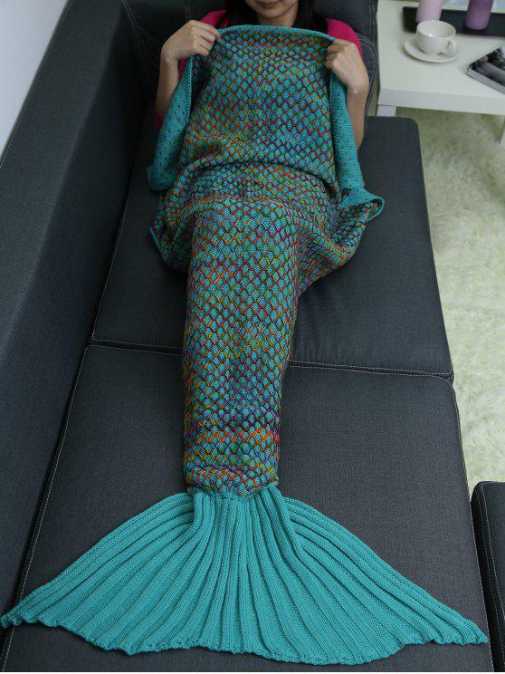 بطانية ميرميد محبوك لف - البحيرة الزرقاء