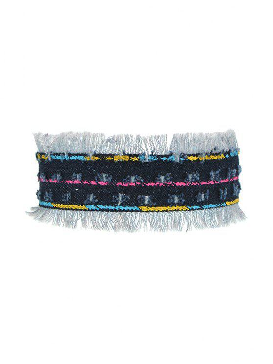 Collar Gargantilla vendimia de la borla - Azul Profundo