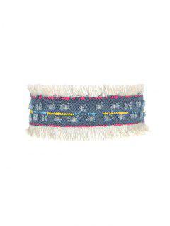 Tassel Vintage Choker Necklace - Denim Blue