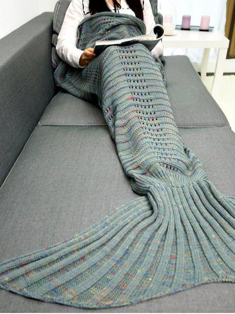 trendy Hollow Out Crochet Knit Mermaid Blanket Throw -   Mobile