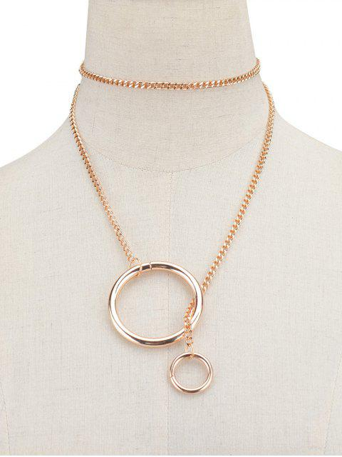 ladies Circle Vintage Chain Necklace -   Mobile