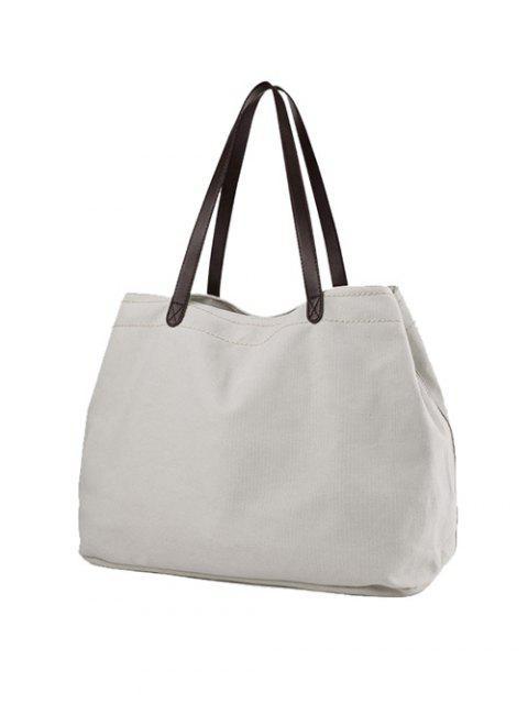 sale Canvas Stitching Shoulder Bag - OFF-WHITE  Mobile