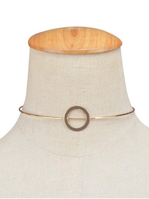 trendy Adorn Alloy Circle Necklace -   Mobile