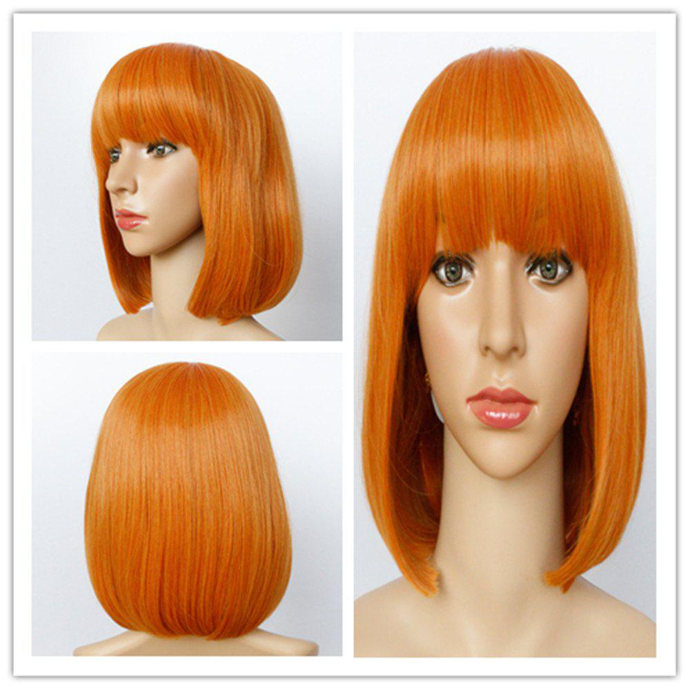 Bob Hairstyle Straight Capless Fashion Short Full Bang Synthetic Wig For Women 191838001