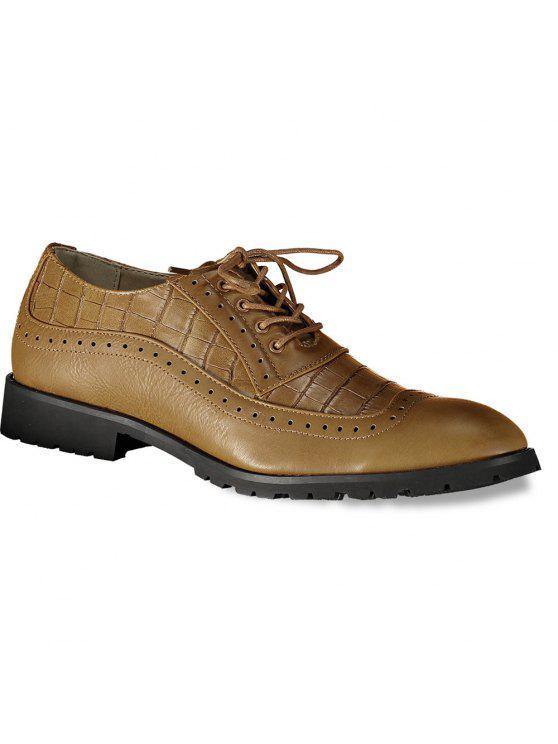 وينج تلميح تنقش أحذية رسمية - BROWN 44