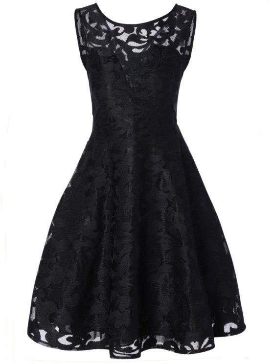 c83d32599fa0c 27% OFF  2019 Lace Plus Size Holiday Short Cocktail Dress In BLACK ...