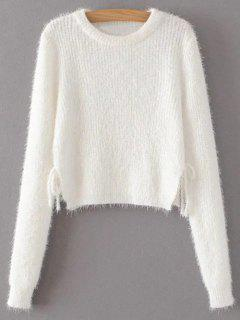 Lace Up Fuzzy Pull Court - Blanc M