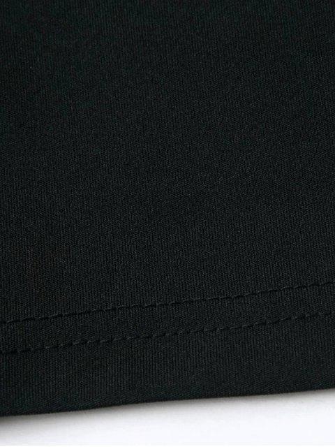 buy Banded Criss Cross Crop Top - BLACK L Mobile