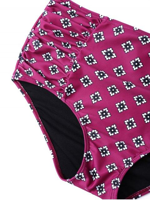 lady Ruffles High Waisted Underwired Bikini - PURPLE S Mobile