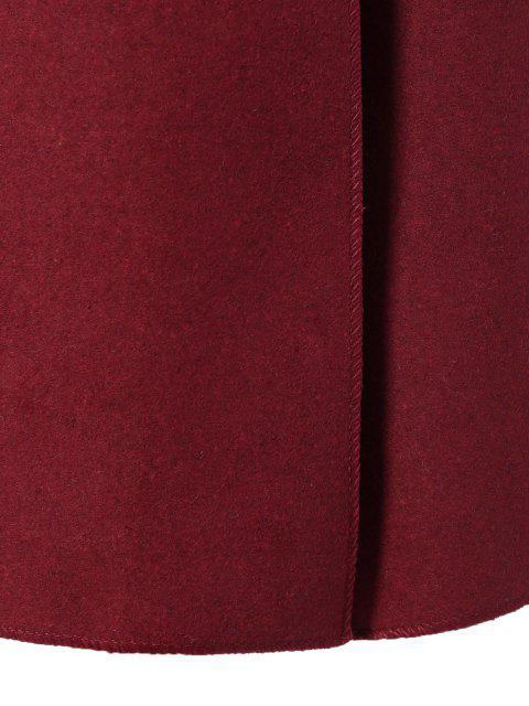 women's Tie Waist Shawl Collar Wrap Coat - RED S Mobile