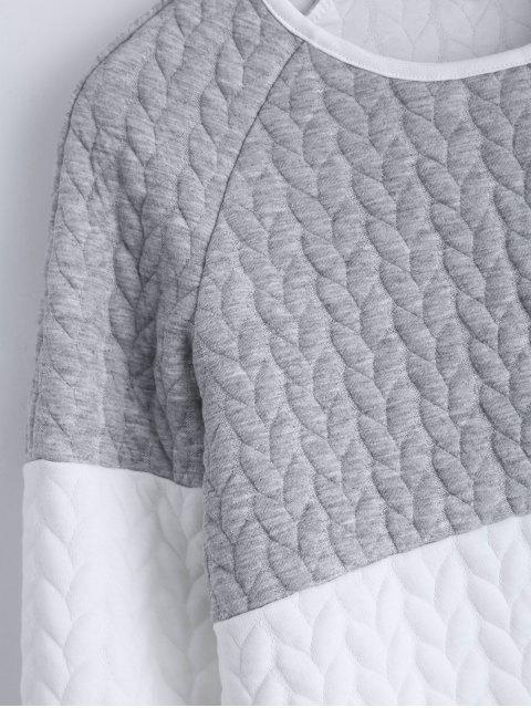 shops Zipper Embellished Color Match Top - GRAY L Mobile