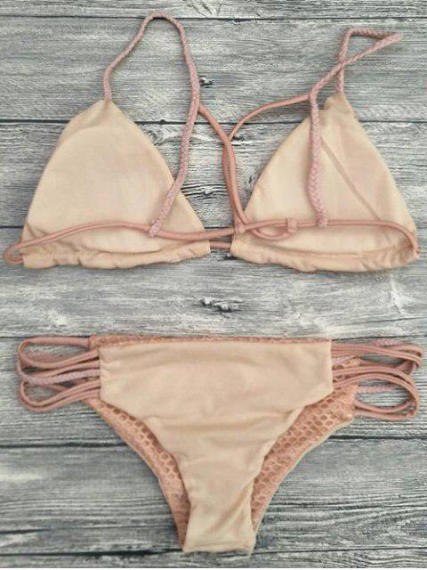 ladies Braid Strappy Grid Bikini Set - COMPLEXION XL Mobile