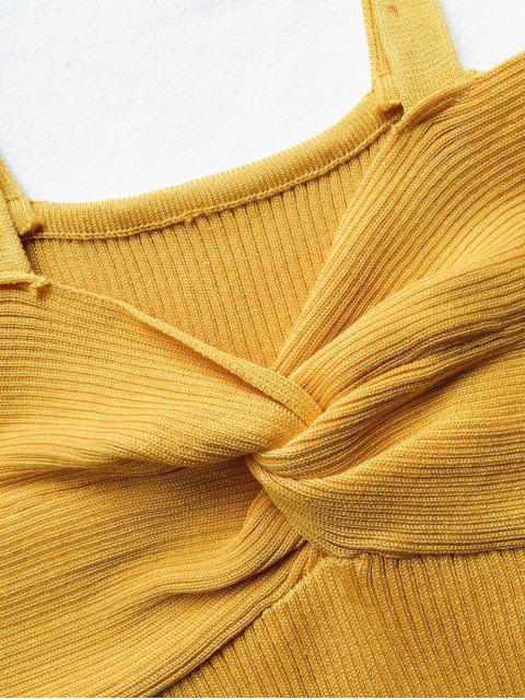 new Front Twist Ribbed Tank Knitwear - GINGER ONE SIZE Mobile