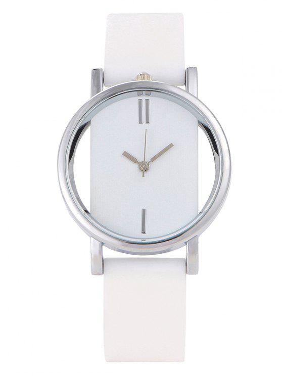 Montre au bracelet analogique en silicone - Blanc